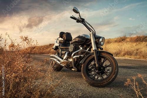 Foto Spatwand Fiets Motorbike