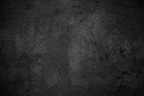 Empty black concrete stone surface texture - 125376147