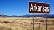 Arkansas brown road sign