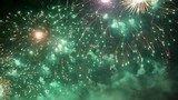 Close up of fantastic colorful firework pyrotechnic show