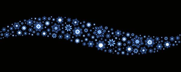 Fala z niebiesko-białych płatków śniegu