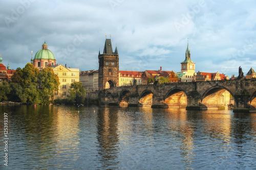 Poster Prague - Charles bridge, Czech Republic. Autumn time.