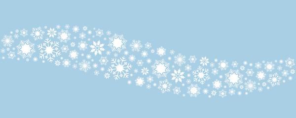 Fala z białych płatków śniegu