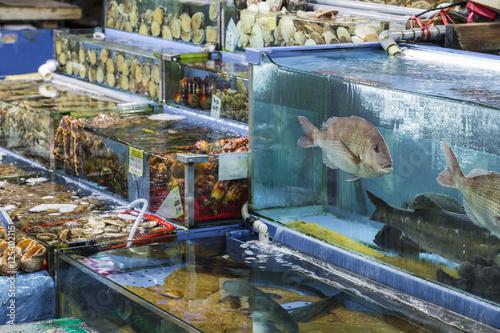 Fotobehang Seoel Noryangjin Fisheries Wholesale Market , Expansive wholesale & re