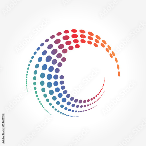 Creative Abstract Dots Pattern in Circle Motion
