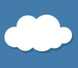 cloud icon with shadow - 125407152