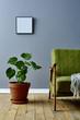Leinwanddruck Bild - retro Wohnen im Altbau