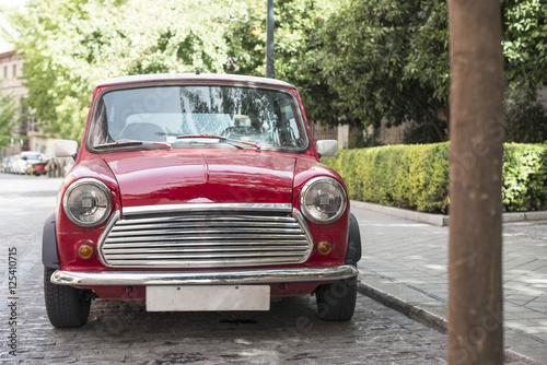 Vintage small car плакат