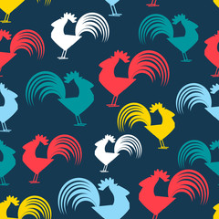 Cool pattern with cocks