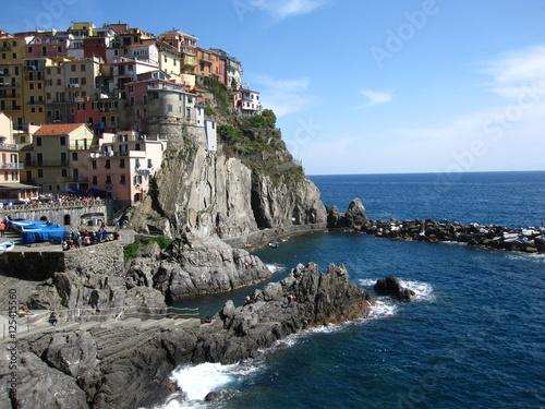 Poster Cinque Terre Mediterranean Ligurian Sea