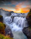 Gulfoss Falls, Islandia