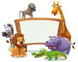 Safari animals board - 125433392