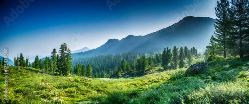 mountain range Chamar-Daban, Siberia - 125439568