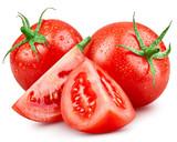 Tomato isolated on white - 125455303