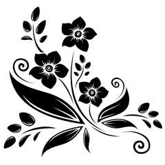 black daffodils silhouette