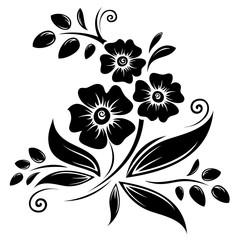 black violets silhouette