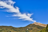 Italian landscape with special cloudscape