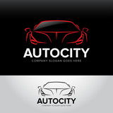 Autocity car logotype - car service and repair, vector set. Car logo. Isolated auto theme logo.
