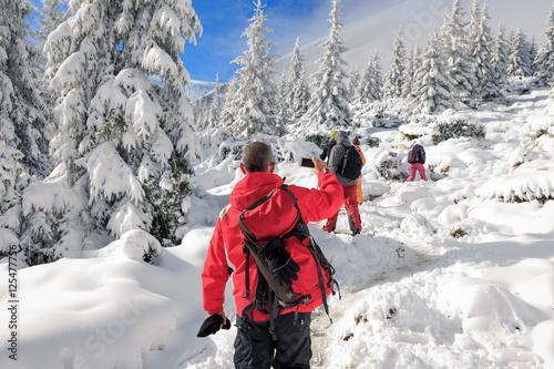 Winter Trekking in Carpathian Mountains