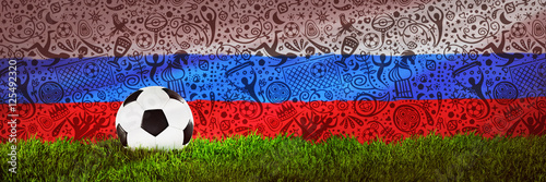 Football, Soccer, Russia, 2018 Poster