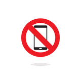 No smartphone sign vector isolated