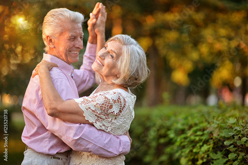 Fototapeta portrait of senior couple