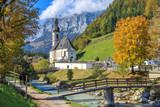 Chirch St Sebastian in Ramsau Bavaria - 125534945