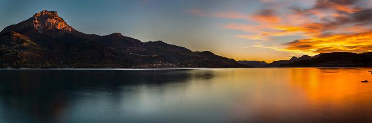 Fototapeta zachód słońca we Francji - panorama