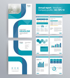page layout for company profile, annual report, brochure, and flyer layout template. with info graphic element. and vector A4 size  for editable   - 125562983
