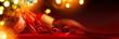 Quadro Merry Christmas; Holidays background with Xmas tree decoration o