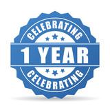 1 year anniversary celebrating icon
