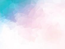 Pink Blue Geometric  Sticker