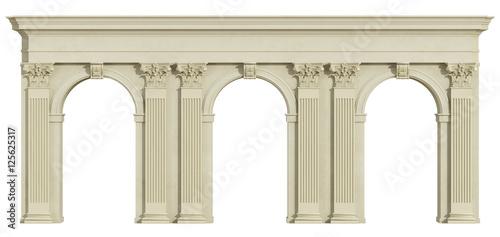 Klasyczna kolumnada odizolowywająca na bielu