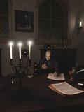 Alchemist at Work in his Study - fantasy illustration