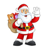 Santa claus character vector illustration design