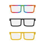 Clean retro flat vector glasses