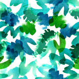 Watercolor abstract seamless pattern