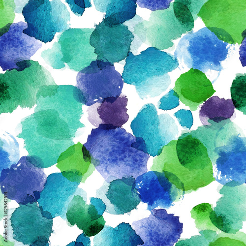 Watercolor abstract seamless pattern - 125642514