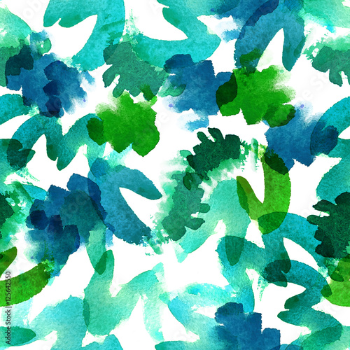 Watercolor abstract seamless pattern - 125642550