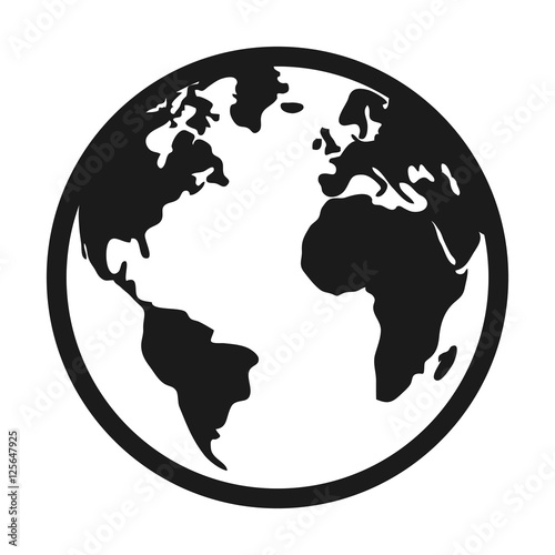 world planet earth isolated icon vector illustration design - 125647925