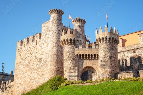Ponferrada Castle entrance Poster