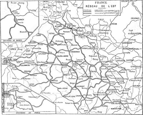 Map of France, vintage engraving. - 125665398