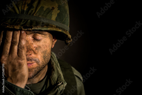American Soldier - Vietnam War - PTSD Poster