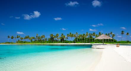 Fototapeta plaża na Malediwach