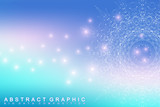 Graphic abstract background communication. Big data complex. Perspective backdrop of depth. Minimal array with compounds lines and dots. Digital data visualization. Big data vector illustration.