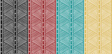Fototapety Tribal Seamless Ethnic African Pattern with Lines.