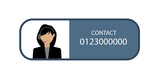 female call center avatar icon with a faceless face wearing headsets