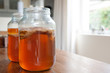 Kombucha Tea in a glass jar