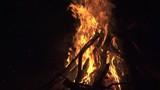Bonfire over black background