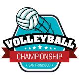 volleyball sport ball emblem vector illustration design